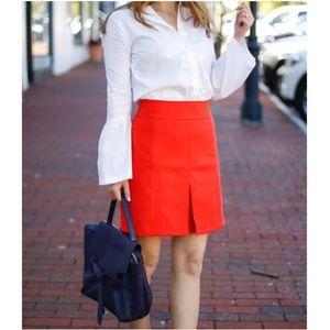 Ann Taylor Split Front Red Skirt